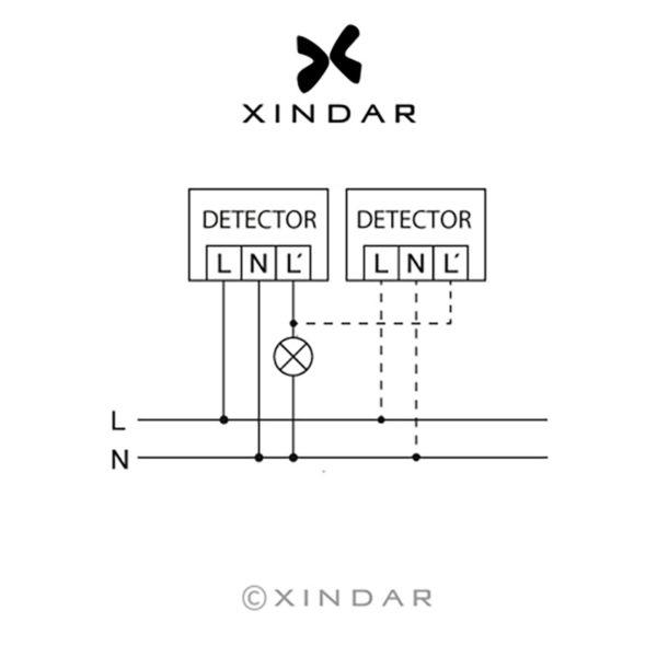 detector-movimiento-pared-pir-detir180-xindar-esquema