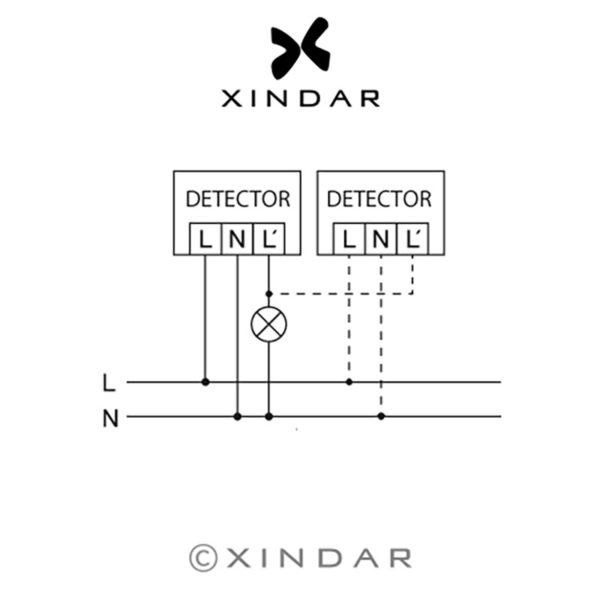 detector-presencia-techo-infrarrojos-sekkyur-presence-xindar-esquemas